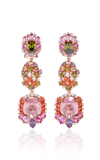 Medium anabela chan pink sugar rush drop earrings