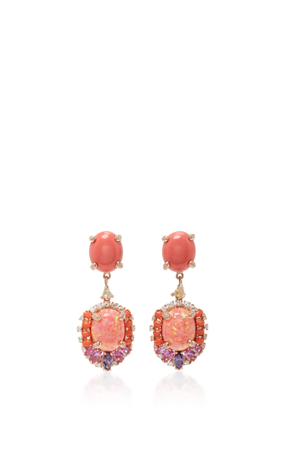 Medium anabela chan coral opal coral earrings
