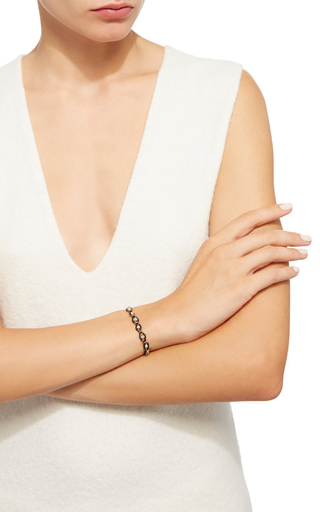 Leather And Gems Bracelet by CAMELLIA WESTBURY Now Available on Moda Operandi