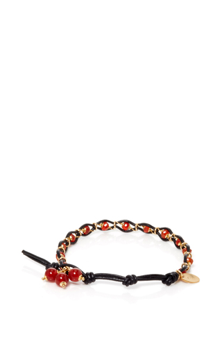 Leather And Gems Bracelet by CAMELLIA WESTBURY Now Available on Moda Operandi