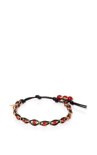 Medium camellia westbury red leather and gems bracelet 2