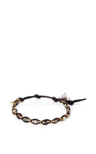 Medium camellia westbury multi leather and gems bracelet 5