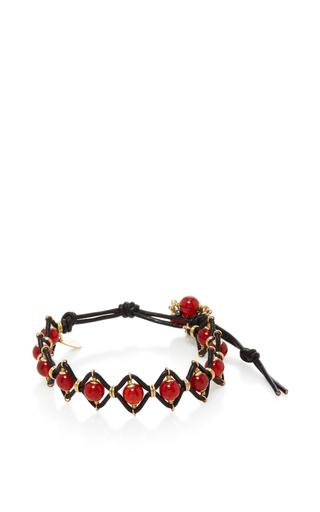 Medium camellia westbury red leather and gems bracelet 6