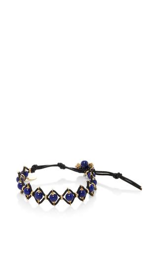 Medium camellia westbury blue leather and gems bracelet 9