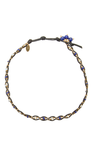 Leather And Gems Necklace by CAMELLIA WESTBURY Now Available on Moda Operandi