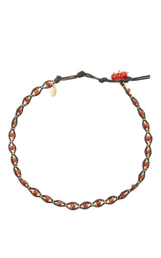 Medium camellia westbury red leather and gems necklace 8