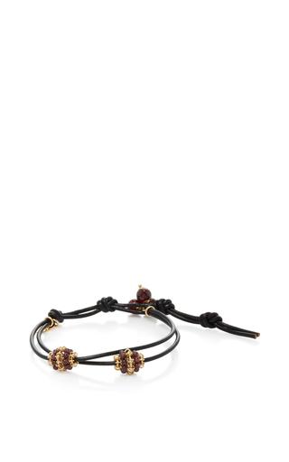 Medium camellia westbury burgundy leather and gems bracelet 12