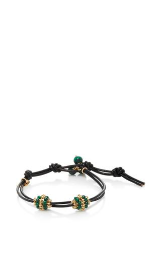 Medium camellia westbury green leather and gems bracelet 13