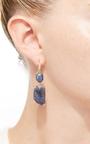 Blue Sapphire Joyce Earrings by LAUREN K Now Available on Moda Operandi