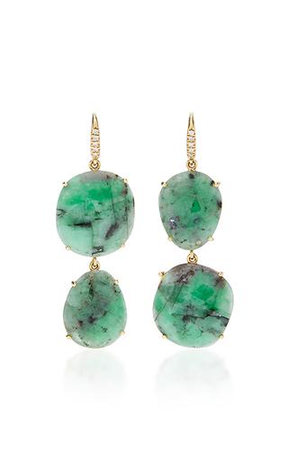 Medium lauren k green emerald joyce earrings