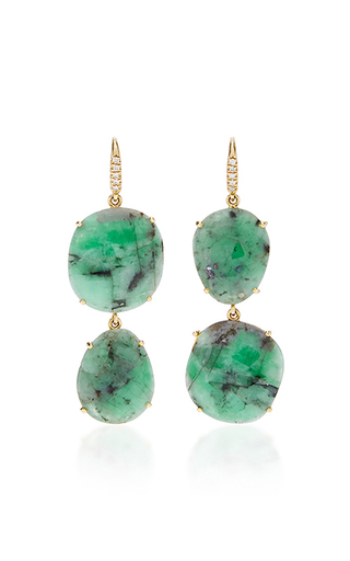 Medium lauren k green emerald joyce earrings