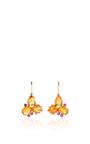 Mandarine Garnet & Pink Sapphire Cluster Earrings by LAUREN K Now Available on Moda Operandi