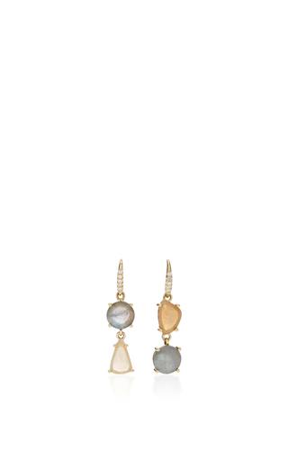 Medium lauren k multi labradorite faceted opal joyce earrings