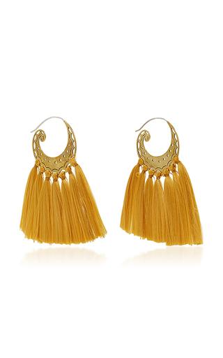 Medium jaline gold gold elsa tassel earring
