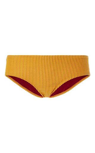Medium made by dawn yellow arrow mid rise bikini bottom