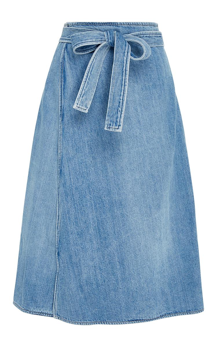 Donna Wrap Denim Skirt