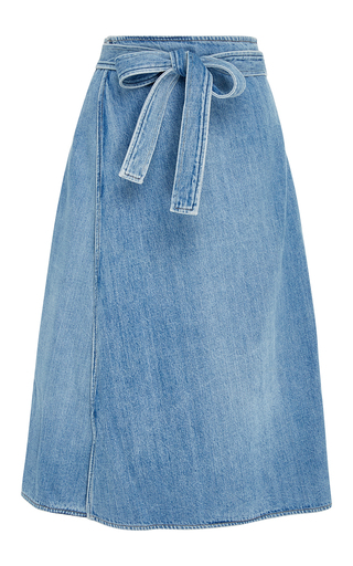 Medium citizens of humanity medium wash donna wrap denim skirt