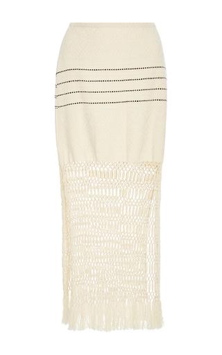 Medium jaline neutral jane handwoven and macrame skirt