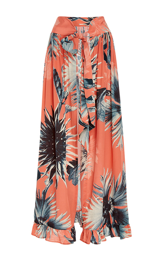 Medium adriana degreas floral flower print maxi skirt