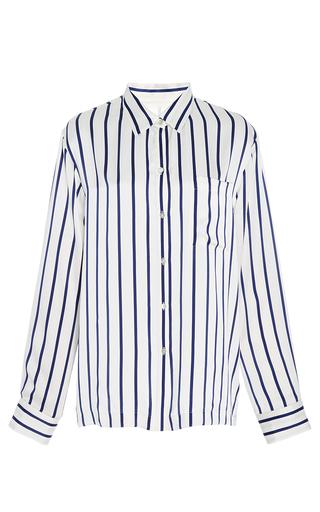 Medium asceno stripe navy stripe modern pajama top