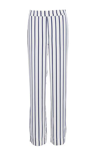 Medium asceno stripe navy stripe modern pajama bottoms