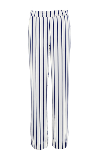 Medium asceno stripe navy stripe modern pajama bottoms