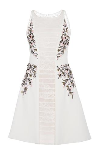 Medium georges hobeika white sleeveless embroidered cocktail dress