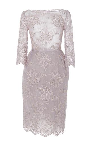 Medium georges hobeika purple lace embroidered pencil dress