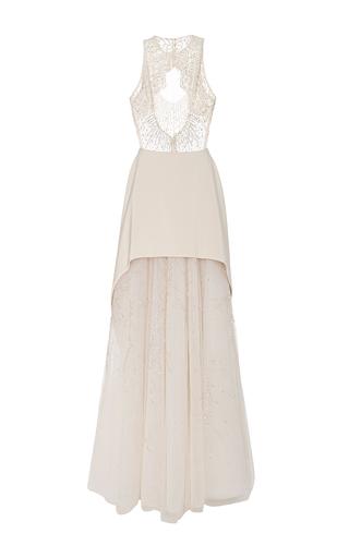 Medium georges hobeika nude sleeveless embellished gown