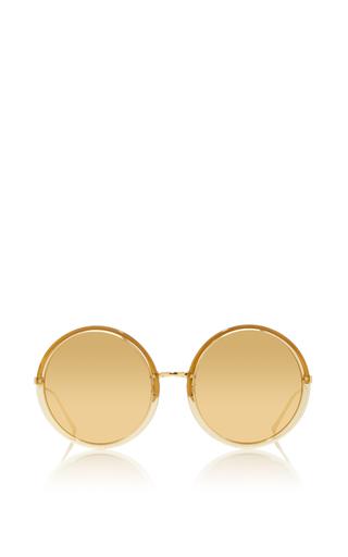 Medium linda farrow gold gold round mirrored sunglasses