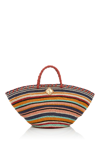 Medium aranaz multi striped carrie tote bag