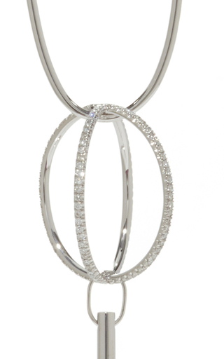 Coachella Earring In White Gold With White Diamonds  by VANRYCKE for Preorder on Moda Operandi