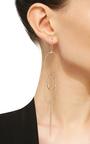 Coachella Earring In Rose Gold With Black Diamonds by VANRYCKE for Preorder on Moda Operandi