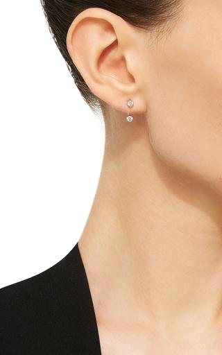 Mademoiselle Else Earring In Rose Gold With White Diamonds by VANRYCKE for Preorder on Moda Operandi