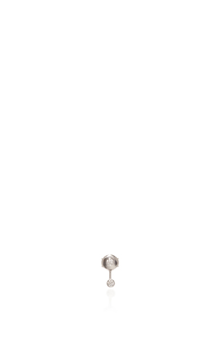 Medium vanrycke silver mademoiselle else earring in white gold with white diamonds