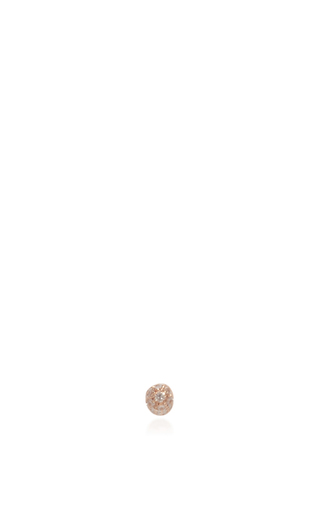 Kachina Earring In Rose Gold With White Diamonds by VANRYCKE for Preorder on Moda Operandi