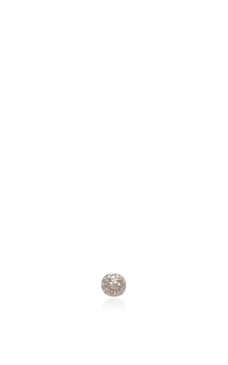 Medium vanrycke silver kachina earring in white gold with white diamonds
