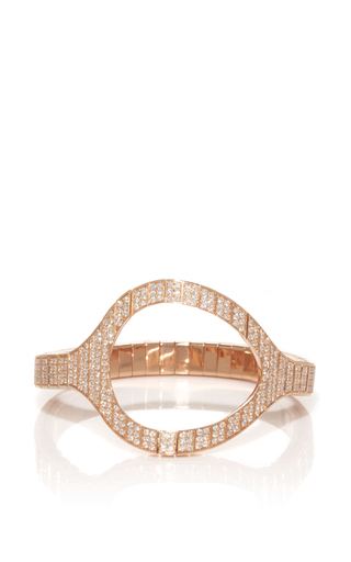 Medium vanrycke rose gold styloide bracelet in rose gold and white diamonds