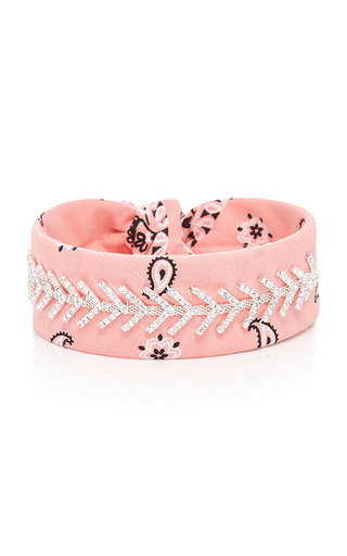 Medium fallon pink monarch bandana choker 3