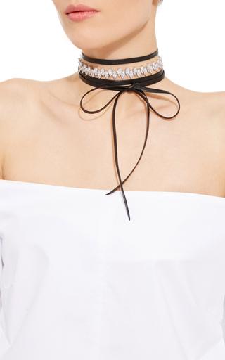 Monarch Jagged Edge Leather Wrap Choker by FALLON Now Available on Moda Operandi