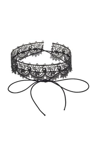 Medium fallon black andalusia lace choker