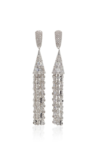 Medium fallon clear monarch deco tulle earrings