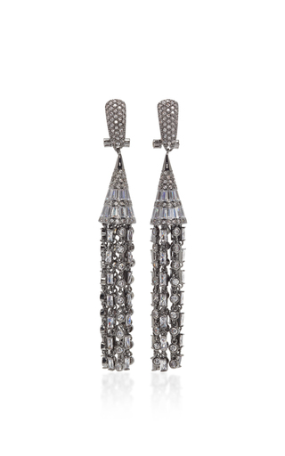 Medium fallon dark grey monarch deco tulle earrings 2