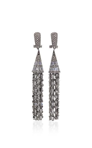 Medium fallon dark grey monarch deco tulle earrings 2