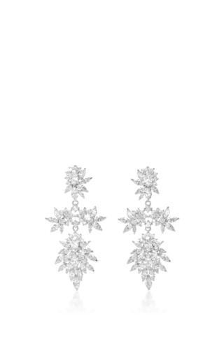 Medium fallon clear cluster marquis earrings