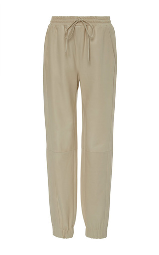 Medium amanda wakeley off white chrome leather joggers