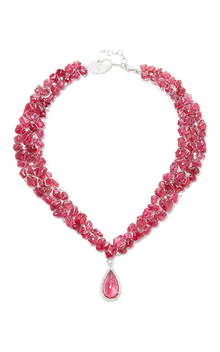 Medium coomi red spinel necklace