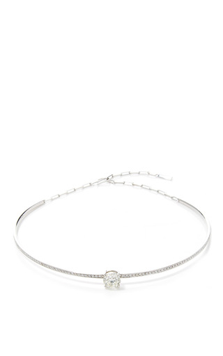 Medium jack vartanian silver m o exclusive 18k white gold choker necklace