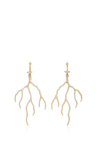 Medium annette ferdinandsen gold 18k gold lightning earrings