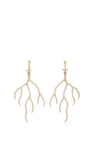 Medium annette ferdinandsen gold 18k gold lightning earrings